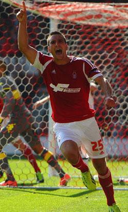 Jack Hobbs scores for Nottingham Forest