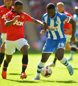 Nouha Dicko in action at Wembley
